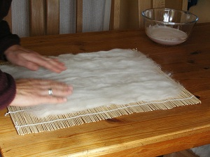 Wool Fleece, Table, Bow, Soap - Felt Making