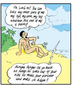 Adam Talks to God about Eve