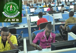 students writing jamb cbt exam