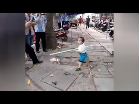 Little Chinese Warrior Fight For His Grandma