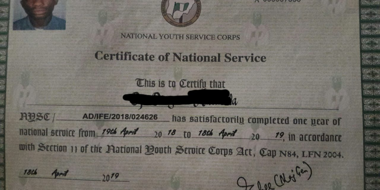 HOW TO VERIFY MY NYSC CERTIFICATE ONLINE