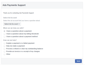ADs payment support