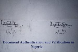 Document Verification Service in Nigeria