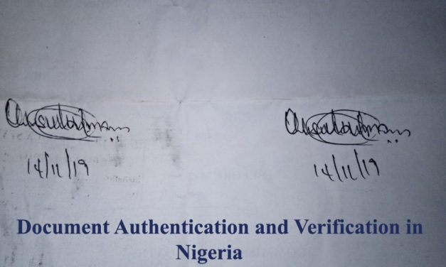 Document Verification Authentication Services Abuja Nigeria