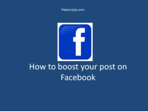 how to boost your post on Facebook