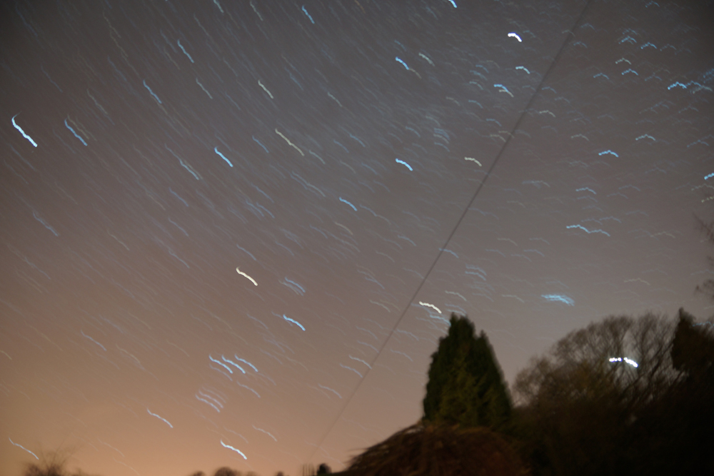 not only i it annoying to sit for 15 minutes outside holding a shutter button, it also produces bad results due to camera shake!a cable shutter release i needed to avoid blurred wiggly star trails