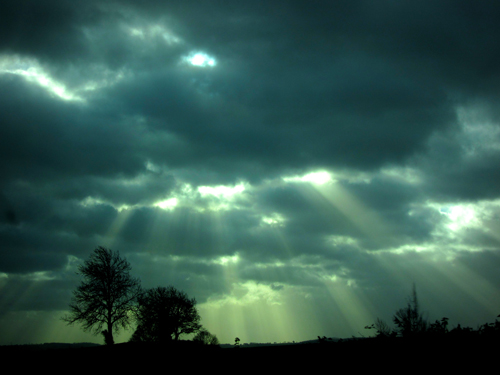 Sun beams shining through the clouds - always an atmospheric way of capturing light